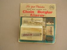 "Vintage ""For Your Protection"" Door/Window Burglar Alarm - Original Packaging"