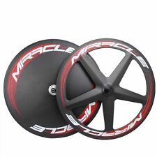 3k Matte Carbon  TT Time Trial Bike Disc Wheels Triathlon Five Spoke Wheelsets