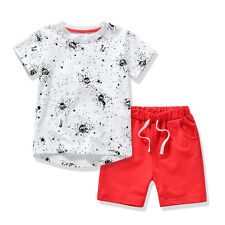 AJia PM41 Toddler Boys Summer Short Sleeve T-Shirt + Shorts Suit Boys Clothes 5T