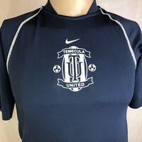 Nike Temecula United Blue Futbol Soccer Jersey Boys Size Medium 10-12