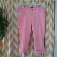 NYDJ Ladies Size 16 Light Pink Marilyn Crop Pants stretch cotton capri