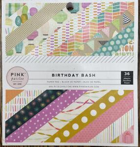 "Pink Paislee  ""Birthday Bash"" 6""x6"" Scrapbook Paper Pad"