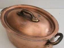 """french MAUVIEL French 1.6mm copper stew pot pan cocotte casserole 8"""""""