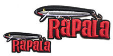2 RAPALA Original Floater Embroidered iron on Cloth Patch for bags and vast