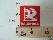STICKER,DECAL VAUXHALL RED CAR AUTO