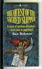 QUEST OF SACRED SLIPPER Sax Rohmer Pyramid #1313 Asian crime gga pulp vintage pb