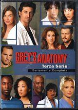 GREY'S ANATOMY STAGIONE 3 - COFANETTO 7 DVD NUOVO!
