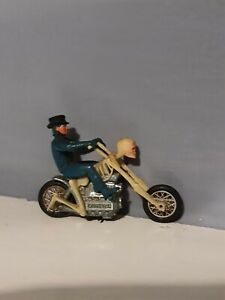 Mattel Rrrumblers Hot Wheels Skeleton Bike 70s blue outfit with top hat