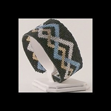 5 Drop Even Count Peyote Bead Pattern - Celtic Pewter Cuff Bracelet