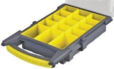 21cm 15 Compartimiento Gris/Amarillo Organizador Caja con bandeja extraíble