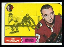 1968 69 TOPPS HOCKEY #22 KEN WHARRAM EX+ CHICAGO BLACK HAWKS CARD
