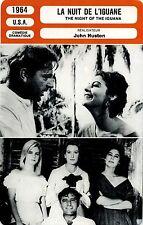 Movie Card Fiche Cinéma La nuit de l'iguane / The night of the iguana (USA) 1964