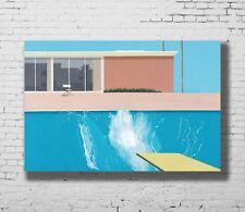 P-47 Art David Hockney A Bigger Splash Artist Custom LW-Canvas Poster - 24x36in