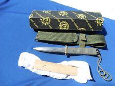 "John Ek Commando Knife w/Original Scabbard, Box, sleeve, sheath, 6.5"" Blade USA!"