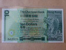 Hong Kong Chartered Bank $10 1st January 1981 (aUNC, light fold at center), E