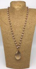 Fashion Bohemian link tribal Crystal necklace w crystal pendant woman jewelry