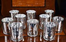 30 Pieces Silver Effect Mercury Glass Tea Light Candle Holders Wedding Decor
