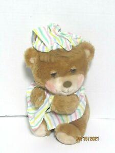 "Vintage Fisher Price 1985 Teddy Beddy Bear Plush Bedtime 10"" Sleepy Pajamas 1401"