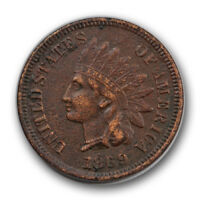 1869 1C Indian Cent Extra Fine XF Full Liberty Corroded R1141
