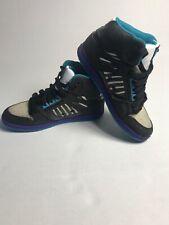 DC Shoes Rebound High womens skate shoes ZEBRA Sz 7.5 Black Purple Blue Leather