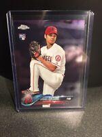 2018 TOPPS CHROME SHOHEI OHTANI ROOKIE CARD LOS ANGELES ANGELS RC MLB