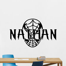 Custom Name Spiderman Wall Decal Superhero Personalized Vinyl Sticker Art 168zzz