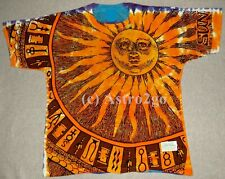 SUN MOON--Liquid Blue 2 sided Day Night Space Astronomy Science T shirt S-7XL