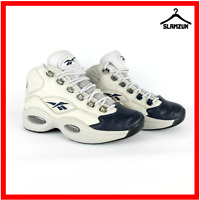 Reebok Question 1 Mens Classic Trainers UK 7 / 40.5 Grey Blue Iverson Vintage