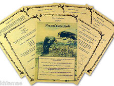 13 Hex & Curse Spells BOOK OF SHADOWS PAGE SET wicca print parchment spell BOS