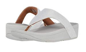 Fitflop Lottie Glitzy Silver Flip Flop Women's sizes 5-11 NEW!!!