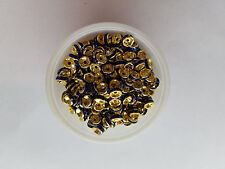 50- 8mm dark blue on gold wedding rings
