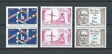 FRANCE - 1979 YT 2050 à 2052 paires - TIMBRES NEUFS** MNH LUXE