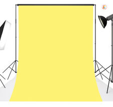 Solid Color Yellow Polyester Photo Background Photography Backdrop Washable5X7FT