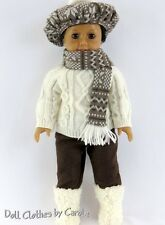 "Fisherman's Sweater Hat Scarf Pants & Boots fit 18"" American Girl Dolls"