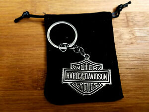 HARLEY-DAVIDSON CHROME BAR & SHIELD LOGO KEYCHAIN