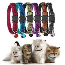 6 Pack Adjustable Quick Release Safety Reflective Cat Collars With Bell 19-32cm