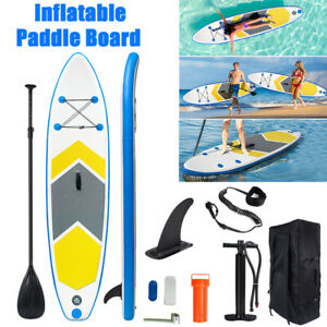10FT Inflatable Stand Up Paddle Board SUP Surfboard Non-Slip Deck w/ Pump Bag UK