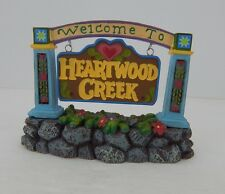 Dept 56 Jim Shore Village Welcome to Heartwood Creek Sign #4021339 New in Box
