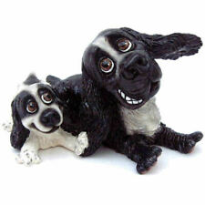 More details for arora design   pets with personality  black & white   cocker spaniel  & pup