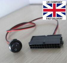 24-Pin Female ATX PSU Power Supply Starter Switch PSU Jumper ON/OFF Switch