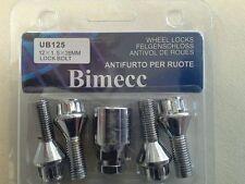 Bimecc 26mm Locking Wheel Nuts / Bolts plus Key to fit M12 x 1.5 x 25 mm
