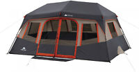 14 x 10 Orange Instant Cabin Tent 10 Person 2 Rooms Outdoor Shelter Camping NEW
