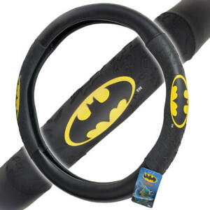 Official Batman Steering Wheel Cover Leather Ergonomic Skin Universal Size