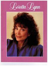 "Loretta Lynn Souvenir 8 1/2"" x 11"" Booklet With Family Photos & Family Biography"