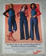 1976 ad page -Landlubber Jeans sportswear CUTE Girl fashion vintage Print ADVERT