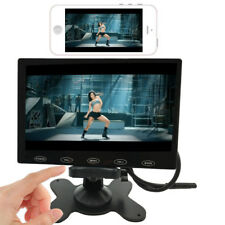 """7""""IPS LCD Car Monitor HD 1024×600 Screen AV Wireless Sync for Android IOS iPhone"""