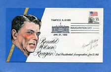 Ronald Reagan Inauguration 1985 Goldberg Hand Painted Cachet First Day Cover #2
