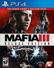 MAFIA 3 III: Deluxe Edition PS4 w/Game, Map, SlipCover, NO DLC! PLEASE READ!