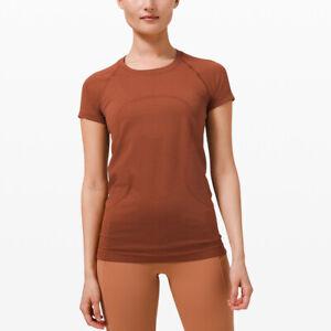 Lululemon Womens Swiftly Tech Short Sleeve 2.0 Dark Terracotta US14/UK18 RRP £58