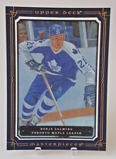 2008-09 UD MASTERPIECES BORJE SALMING 5X7 BOXTOPPER BLUE FRAME MAPLE LEAFS XL-BS